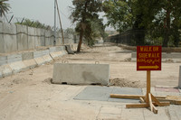Don't walk on nonexistent sidewalk, Baghdad Green Zone