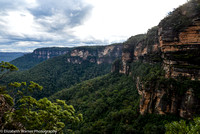Cliffside view of the Blue Mountains, Australia